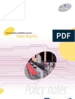 Niches Public Bicycles Policy Notes