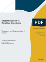 Descentralizacion en Republica Dominicana Desempeno Actual y Perspectivas de Reforma