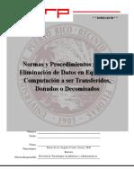 DTAA Rev4 OAJv6 Normas y Procedimientos Para La Eliminacion de Datos en Equipos de Computacion 2feb2017