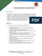 Curso de Especialización en Fibra Óptica Temario Piura