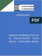 Análisis Probabilistico de La Precipitación Total Anual y Descarga Media Anual