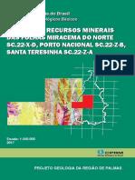 Projeto Geologia Da Região de Palmas - CPRM - 2017