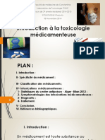 Introduction à la Toxicologie des médicaments KOULOUGHLI Khaoula