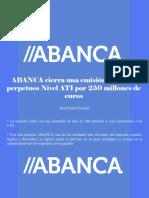 Juan Carlos Escotet - ABANCA Cierra Una Emisión de Bonos Perpetuos Nivel AT1 Por 250 Millones de Euros