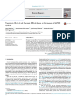 Transient Effect of Soil Thermal Diffusivity on Performance of EATHE System