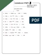 Lista X - Balanceamento de equações químicas - Resolvida.pdf