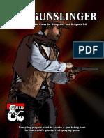 Gunslinger Class D&D