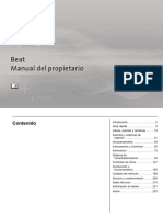 Manual de Propietario Beat 2018