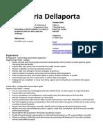 Maria Dellaporta CV