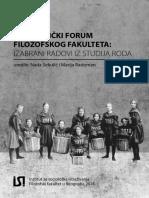 Feministicki Forum FF Izabrani Radovi Iz Studija Roda