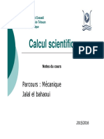 1 Cours Calcul Sciebtifique Introduction