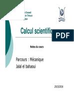 1 Cours Calcul Sciebtifique Introduction