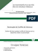 ABORDAGEM FISIOTERAPÊUTICA NO PÓS OPERATÓRIO DE CIRURGIAS TORÁCICAS