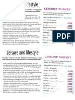 leisure and lifestyle text