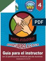 Manos Ayudadoras - Guía Para El Instructor Asociación Central Sur de Costa Rica