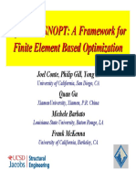 Conte OpenSees Snopt a Framework for Finite Element Based Optimization 26Oct2012 Final