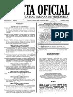 Gaceta Oficial 41511 Decreto 3645