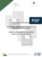REGULAMENTO DE DESEMPENHO ENERGÉTICO DOS EDIFÍCIOS DE HABITAÇÃO (REH).pdf