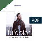 Tu Dolor Luciano Pereyra