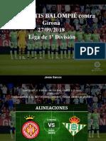 Jesús Sarcos - REAL BETIS BALOMPIÉ Contra GIRONA, 27-09-2018, Liga de 1ra División