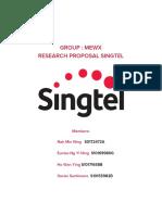 Singtel Research Proposal