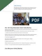 Cara Menyusun Safety Meeting