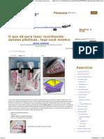 Reutilize Sacolas Plásticas Fundindo Para Fazer Uma Eco-bag, Passo-A-passo _ Vila Do Artesão
