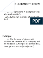 Cosets and Lagrange Theorem