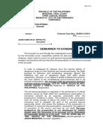 Demurrer to Evidence Juan Carlos Hipolito