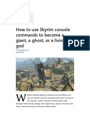 skyrim teleport commands