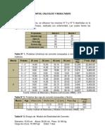 Cálculos - Informe Concreto Endurecido.