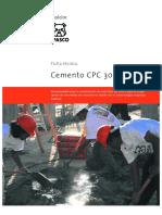 Cemento CPC 30 R