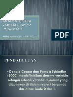 Analisa Regresi Variabel Dummy (Qualitatif)