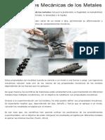 9 Propiedades Mecánicas de Los Metales