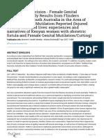 Female Circumcision - Female Genital