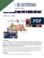 Plan de Actividad Jirnada 4to y 5to 2018