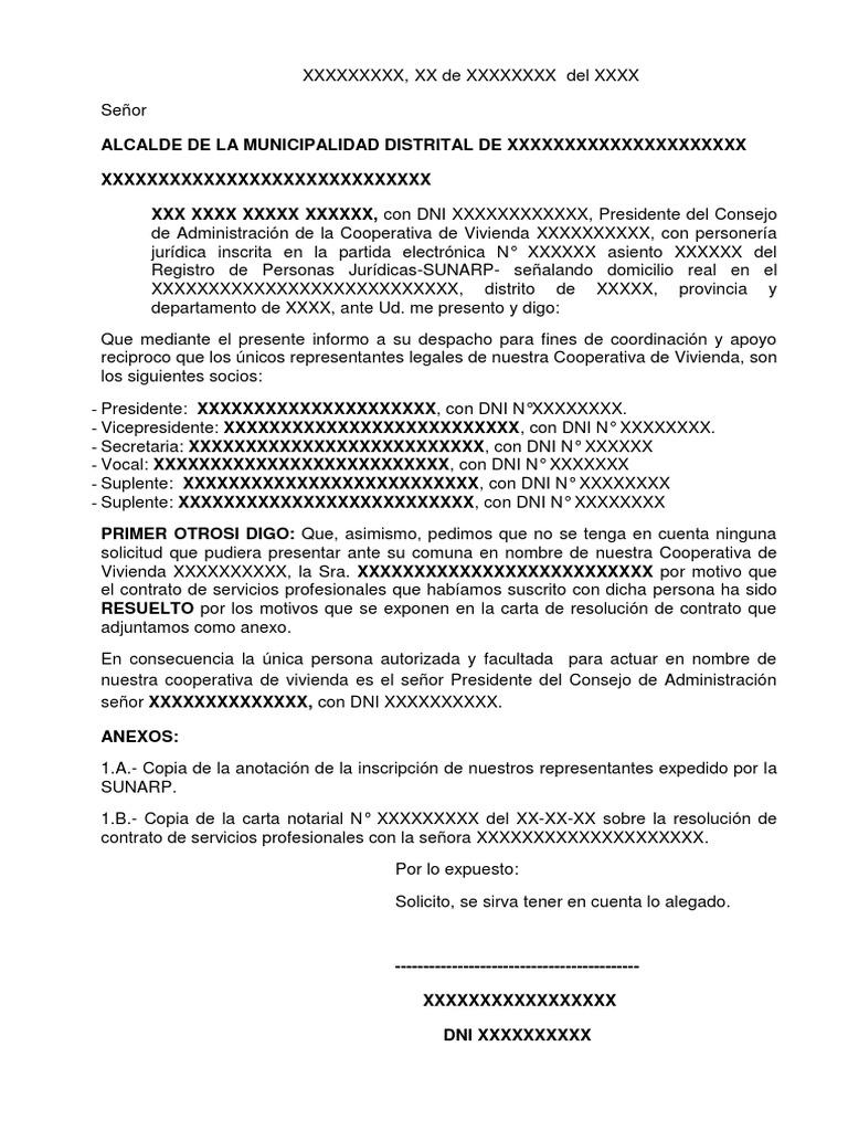 Carta Dirigida A Autoridad Edil Pdf Carta dirigida a una autoridad