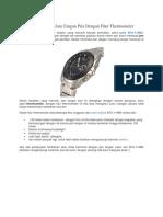 Casio EFA-119BK, Jam Tangan Pria Dengan Fitur Thermometer