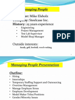 Managing People and Personnel