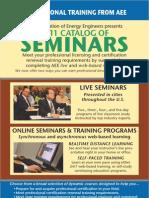 AEE 2011 Seminar Catalog