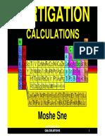 Fertigation Calculations 2013