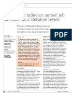 Factors That Influence Nurses Job Satisfaction