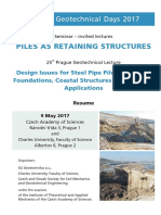 Piles as retaining structures