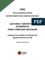 Lectura y Escritura Académica para Ciencias Sociales