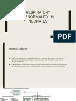 Abnormality in Neonates