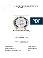 Seminar Adm. Law 1