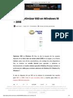 Como Optimizar SSD en Windows 10 - 2018