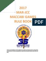 2018 Maccabi Games Final Rule Book