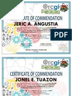 Certificate for Sci-math