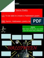 Halloween Poetry KS3